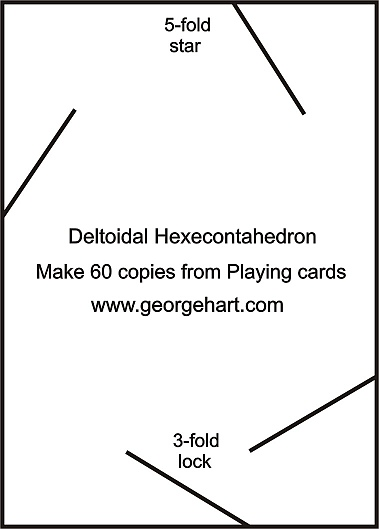 Playing card polyhedral construction above is the basic template it is proportioned for a 35 x 25 inch standard us poker card if you use a bridge card which is 35 x 225 pronofoot35fo Choice Image