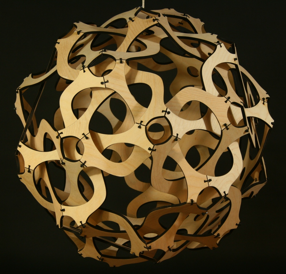 geometric sculpture of george w hart mathematical sculptor