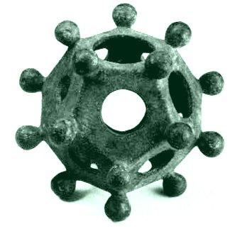 это маленький полый объект, сделанный из бронзы или камня, имеющий форму додекаэдра: двенадцать плоских пятиугольных...