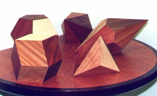 Wooden Polyhedra Models